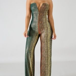 Pants - Streak Shine Jumpsuit